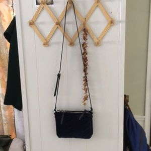 Old navy blue velvet crossbody bag